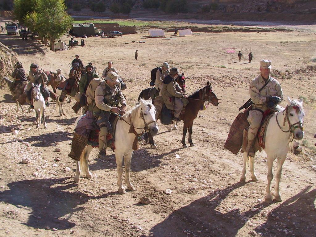 Battle of Mazar e Sharif, Special Forces Troops Mount Horseback Assault